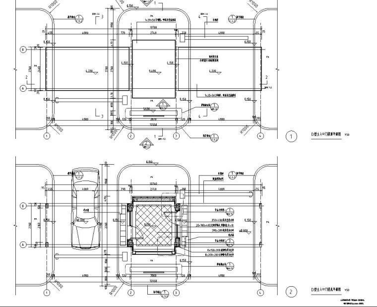 时代典雅住宅D2型入口景观施工图设计 (1)