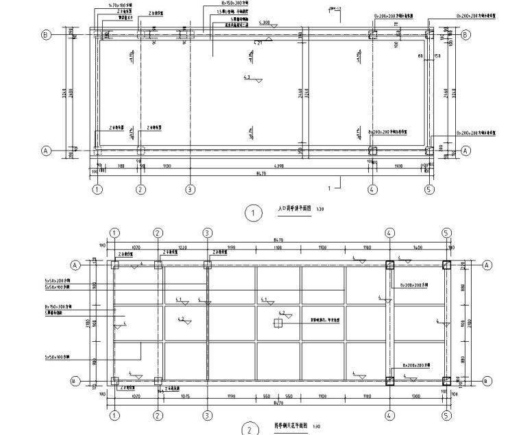 时代典雅住宅D1型入口景观施工图设计 (1)