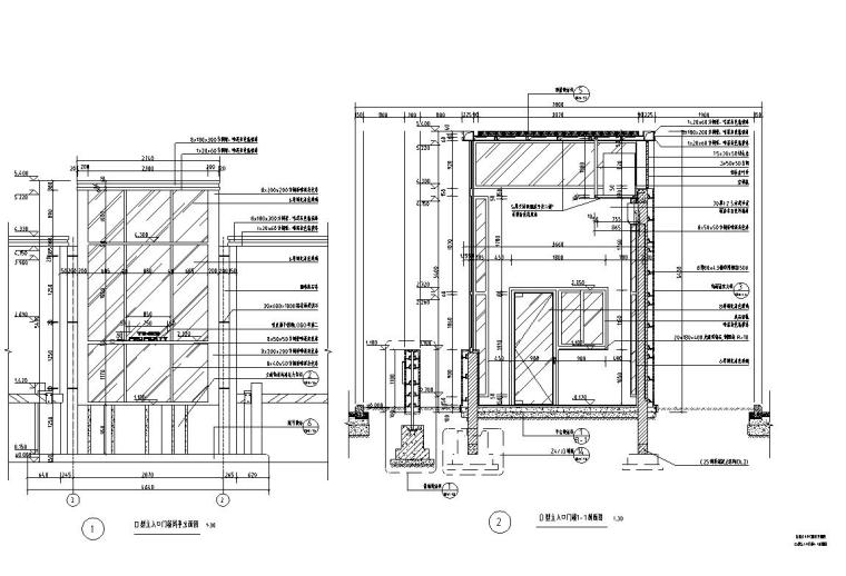 时代典雅住宅D2型入口景观施工图设计 (3)
