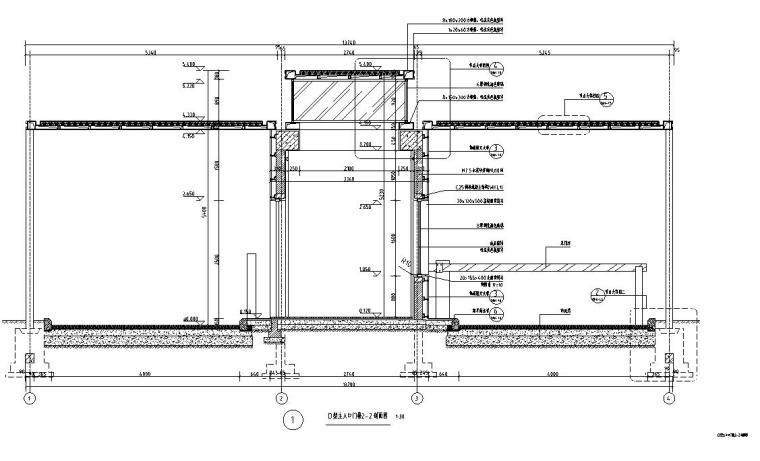 时代典雅住宅D2型入口景观施工图设计 (4)