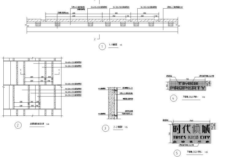 时代典雅住宅D2型入口景观施工图设计 (7)