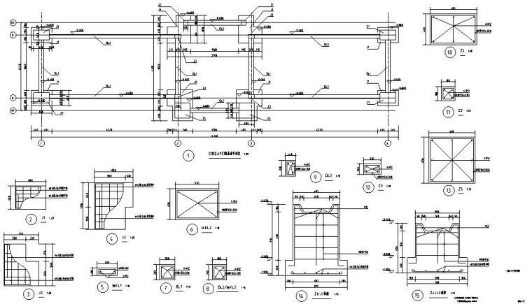 时代典雅住宅D2型入口景观施工图设计 (8)