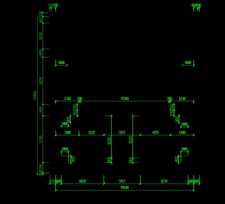 [深圳]地铁工程质量评价汇报材料-轨排井段主体结构横剖面图