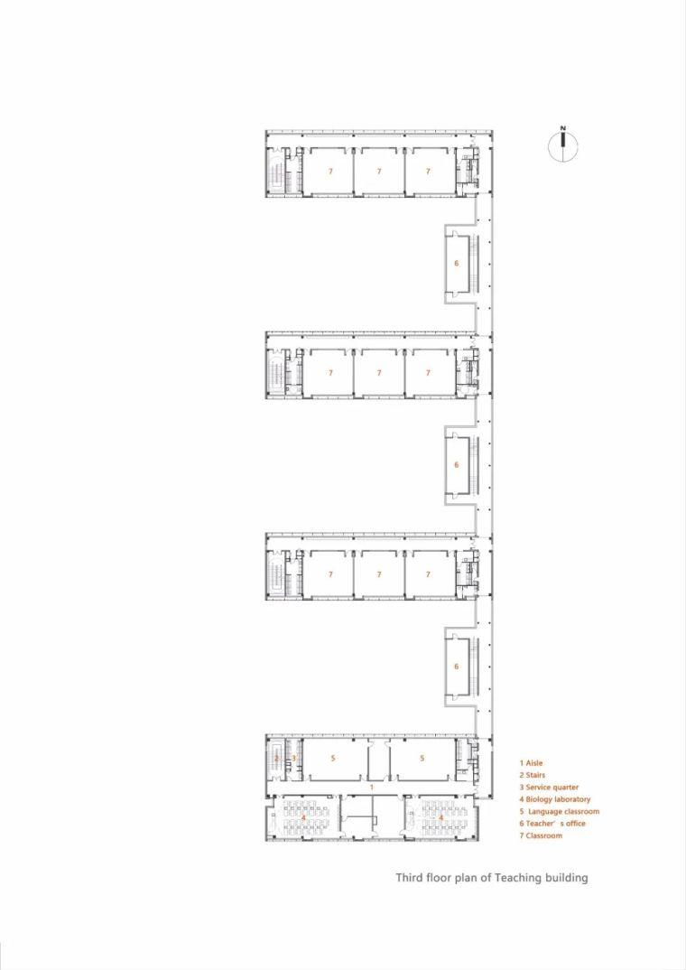 中学设计 开放式空间+包豪斯灰_34