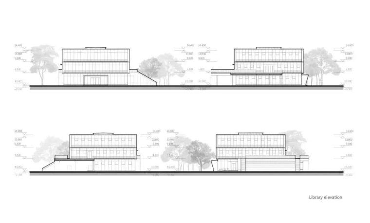 中学设计 开放式空间+包豪斯灰_40
