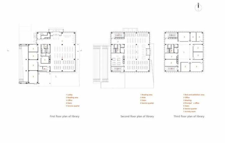 中学设计 开放式空间+包豪斯灰_39