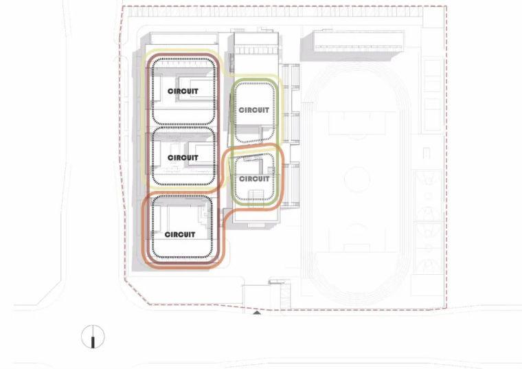 中学设计 开放式空间+包豪斯灰_49