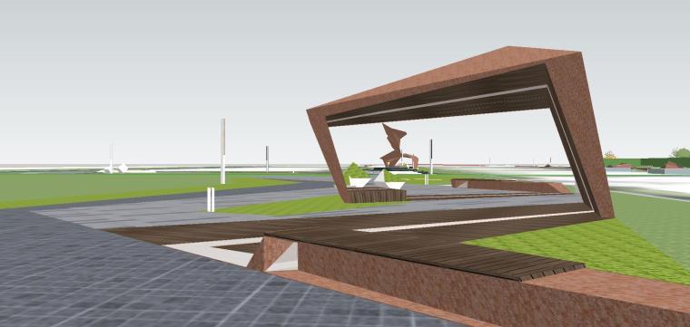 知名企业海创中心现代风格景观模型设计 (1)