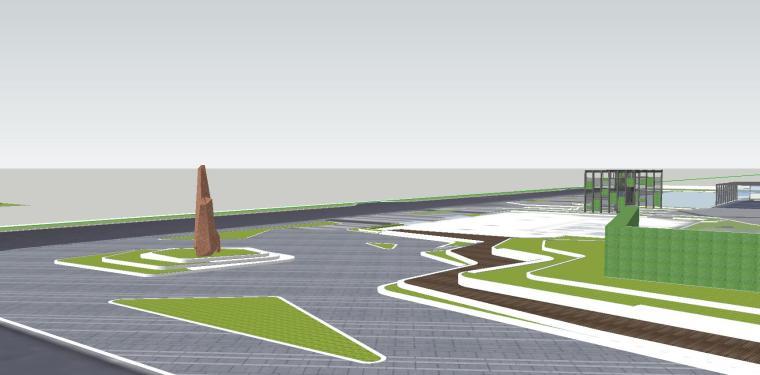 知名企业海创中心现代风格景观模型设计 (4)