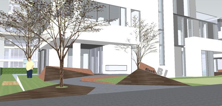 知名企业海创中心现代风格景观模型设计 (6)