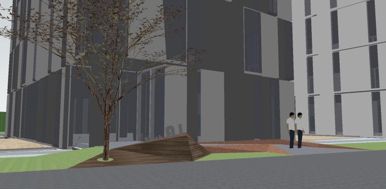 知名企业海创中心现代风格景观模型设计 (7)