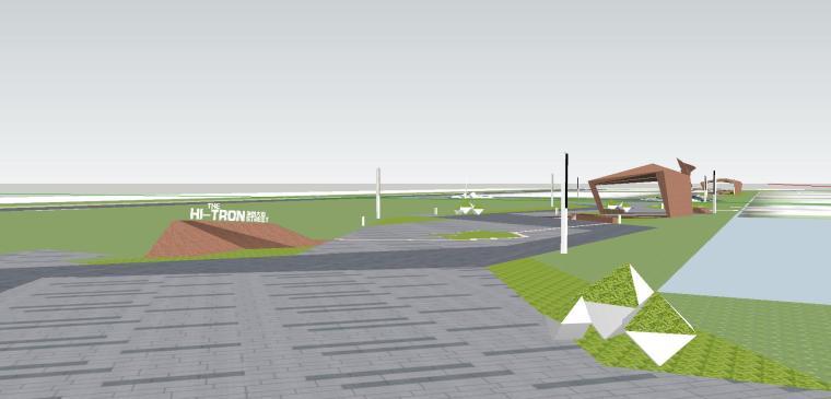 知名企业海创中心现代风格景观模型设计 (8)