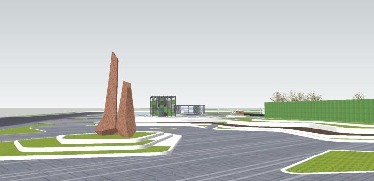 知名企业海创中心现代风格景观模型设计 (10)
