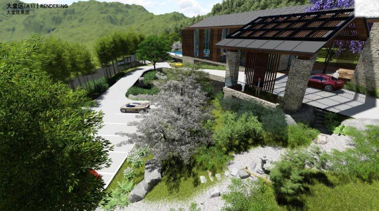 [浙江]宁波温泉休闲度假酒店景观设计方案-大堂区景观效果图3