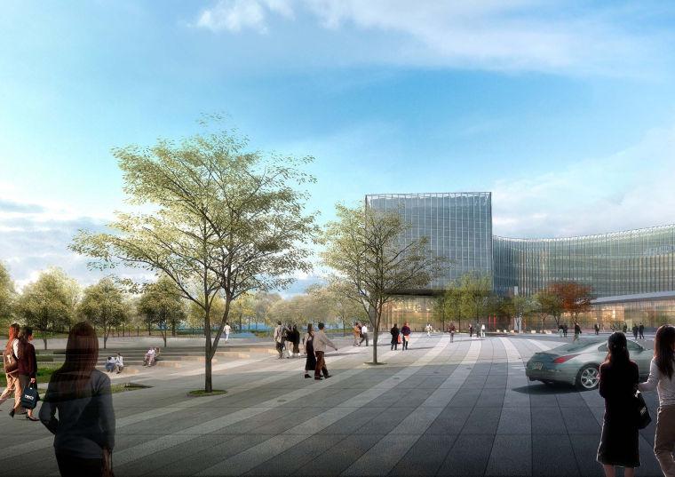 [江苏]南京企业总部园区景观设计方案-景观效果图 (6)