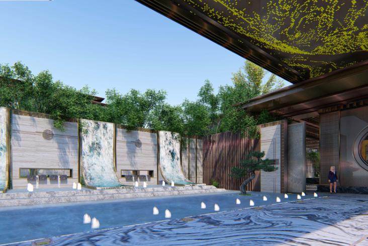 [重庆]新中式风格书院概念示范区景观方案-灵川厅—吟芳畅语效果图 (3)