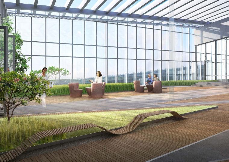[江苏]南京企业总部园区景观设计方案-景观效果图 (2)