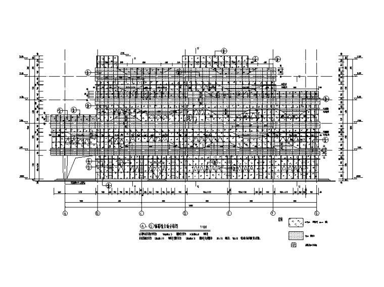 [遵义]4层综合体幕墙及采光顶结施图纸2017-幕墙立面分格图