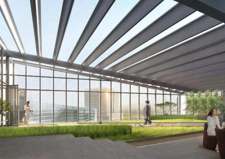 [江苏]南京企业总部园区景观设计方案-景观效果图 (3)