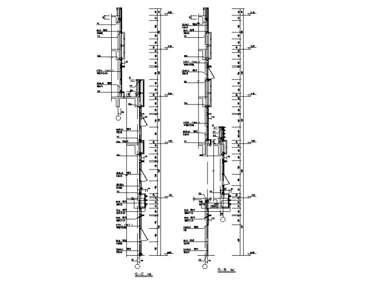 [遵义]4层综合体幕墙及采光顶结施图纸2017-剖面图