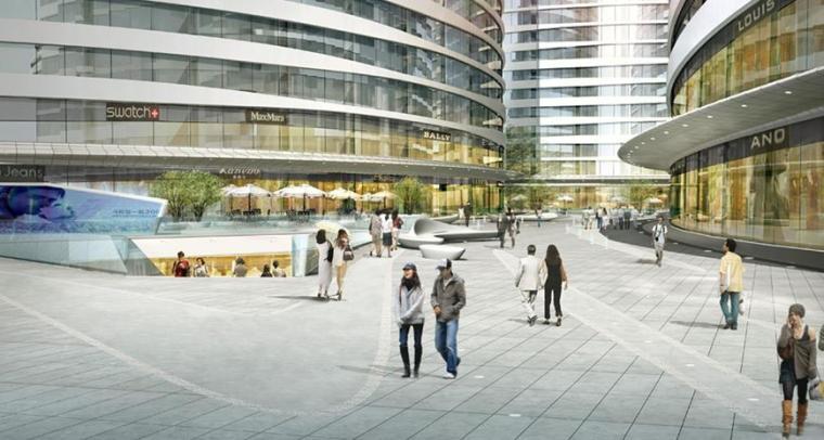 [北京]知名商业办公区景观设计方案-景观效果图2
