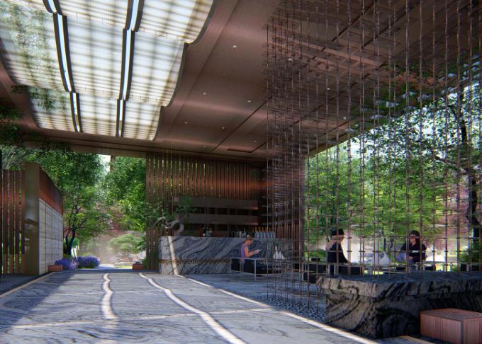 [重庆]新中式风格书院概念示范区景观方案-灵川厅—吟芳畅语效果图