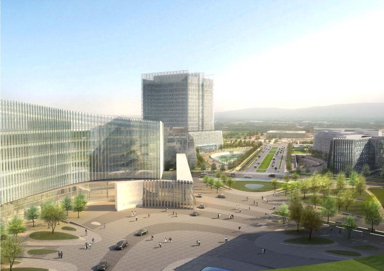 [江苏]南京企业总部园区景观设计方案-景观效果图 (5)