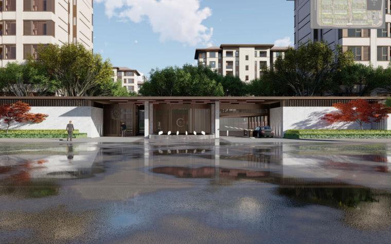 欧式独栋二层滨水资料下载-[重庆]两江新区滨水住宅大区景观方案