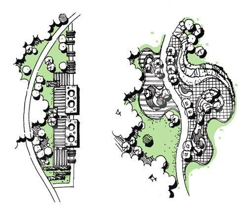 风景园林快题曲线构图技巧(小尺度)_33