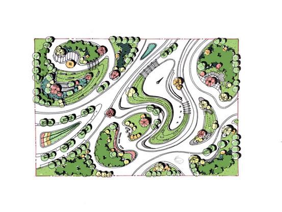 风景园林快题曲线构图技巧(小尺度)_42