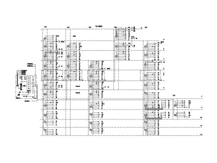 [江苏]45.8万平商业广场电气施工图-[江苏]徐州中央广场裙房及地下室电气施工图-8商业业务及应急广播系统图