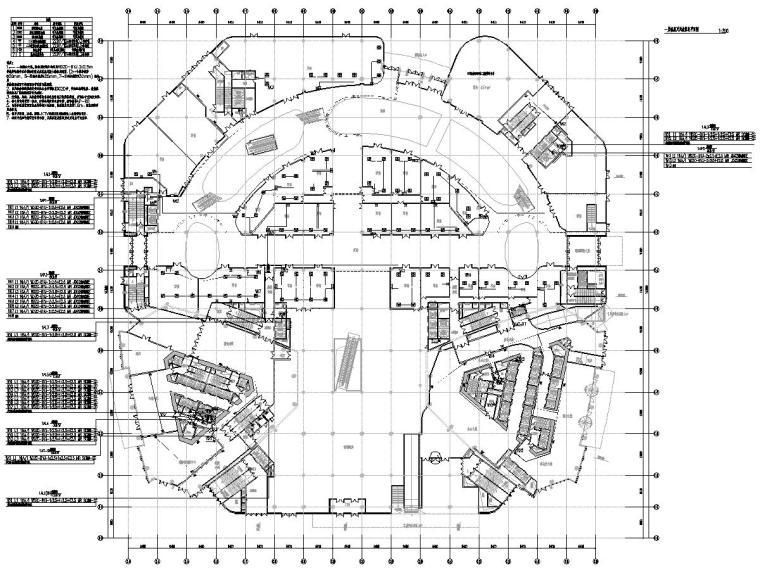[江苏]45.8万平商业广场电气施工图-[江苏]徐州中央广场裙房及地下室电气施工图-1照明、插座平面图