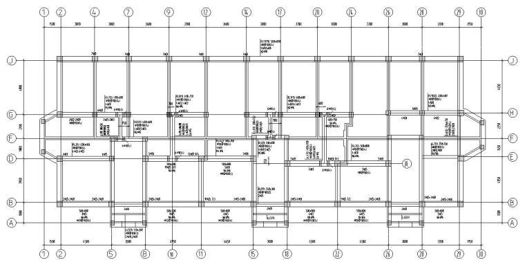 四层住宅带阁楼顶层砖混结构施工图CAD-结构配筋图