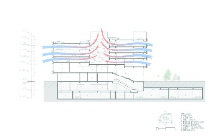 斜板结构立体停车楼,