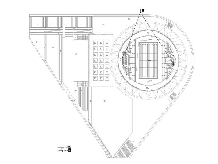 十套精品弱电智能化专项图纸合集-[苏州]大型游泳馆弱电施工图(含多种系统)-1线槽平面图