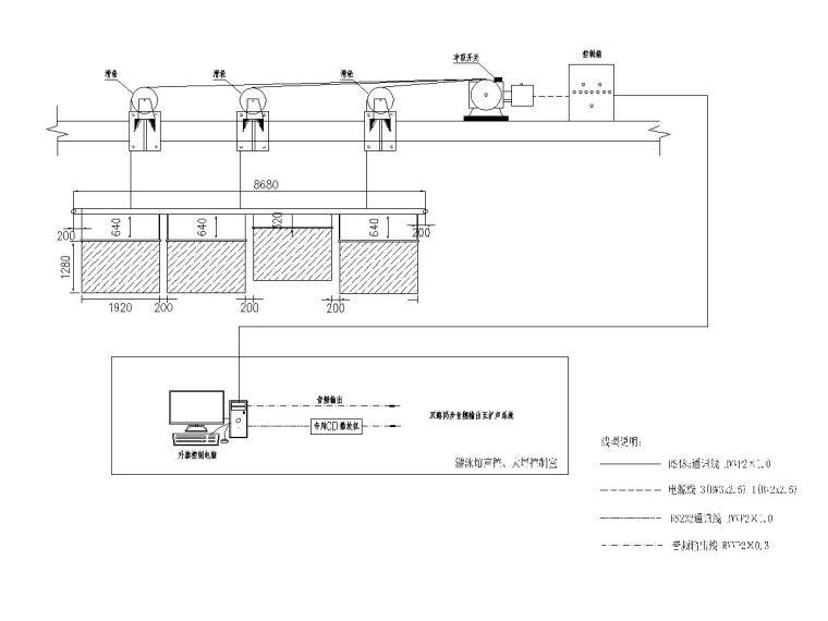 十套精品弱电智能化专项图纸合集-[苏州]大型游泳馆弱电施工图(含多种系统)-2升旗控制系统图