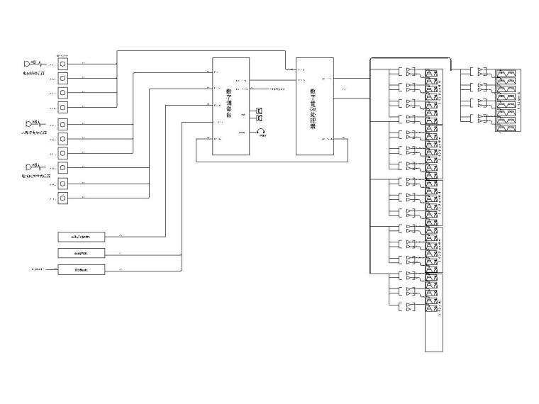 十套精品弱电智能化专项图纸合集-[苏州]大型游泳馆弱电施工图(含多种系统)-5场地扩声系统图