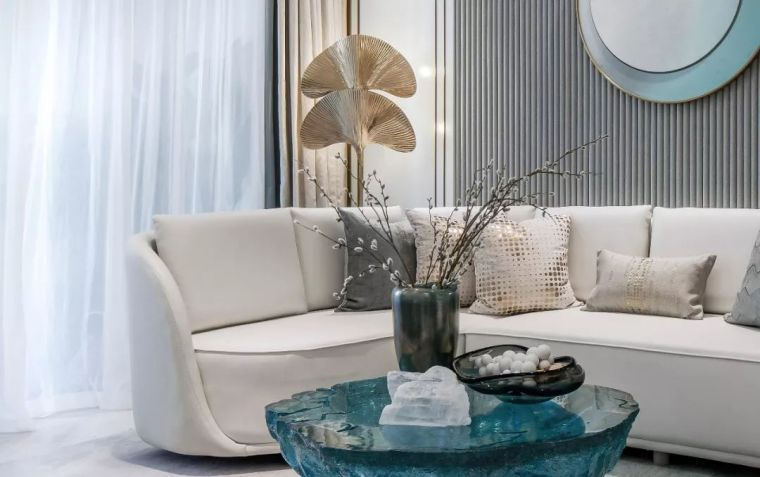 96㎡蒂芙尼蓝中式住宅,时尚的惊鸿一瞥!_11
