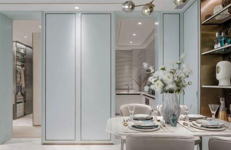 96㎡蒂芙尼蓝中式住宅,时尚的惊鸿一瞥!_7