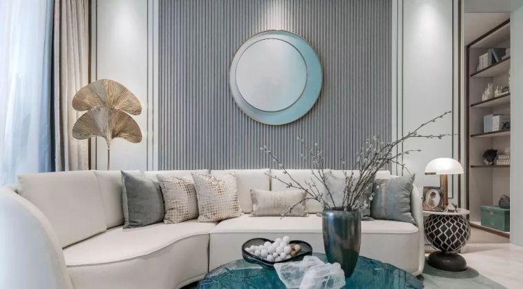 96㎡蒂芙尼蓝中式住宅,时尚的惊鸿一瞥!_9