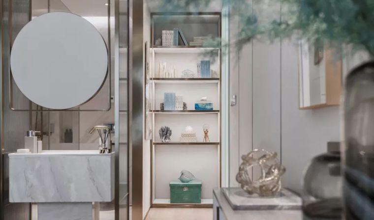 96㎡蒂芙尼蓝中式住宅,时尚的惊鸿一瞥!_20