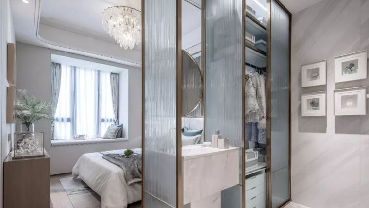 96㎡蒂芙尼蓝中式住宅,时尚的惊鸿一瞥!_18