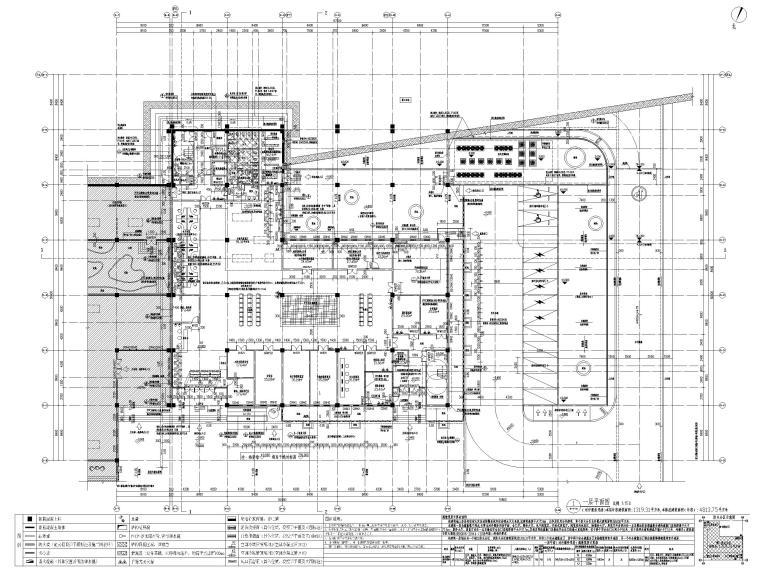 三层框剪结构档案馆建筑施工图2019-一层平面图