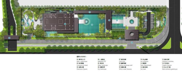 [广东]惠州现代风格居住区景观设计方案-总平面图