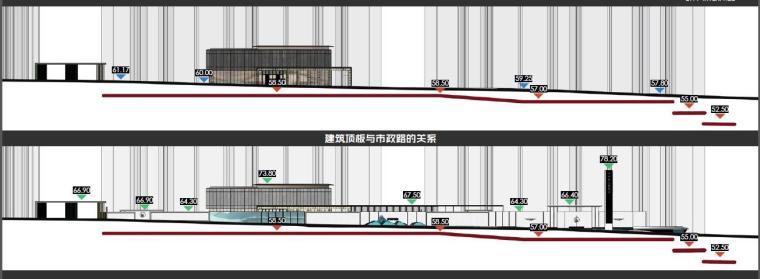 [广东]惠州现代风格居住区景观设计方案-剖面图