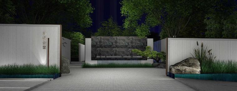 [广东]惠州现代风格居住区景观设计方案-景观效果图