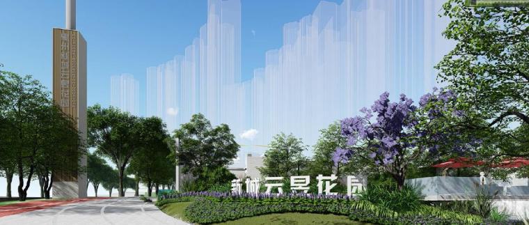 [广东]惠州现代风格居住区景观设计方案-景观效果图3