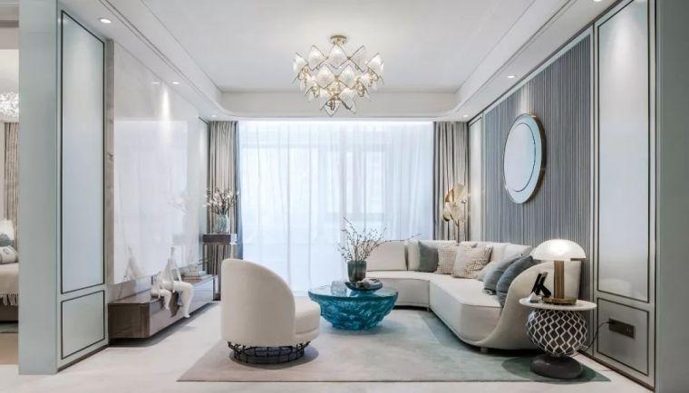 96㎡蒂芙尼蓝中式住宅,时尚的惊鸿一瞥!_1
