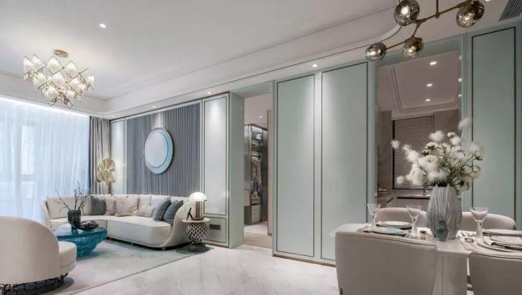 96㎡蒂芙尼蓝中式住宅,时尚的惊鸿一瞥!_4