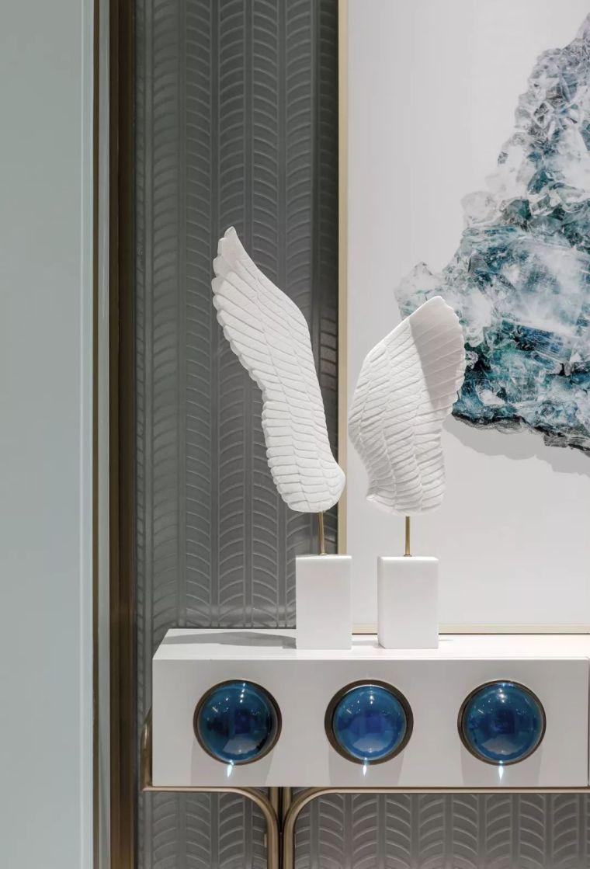 96㎡蒂芙尼蓝中式住宅,时尚的惊鸿一瞥!_3